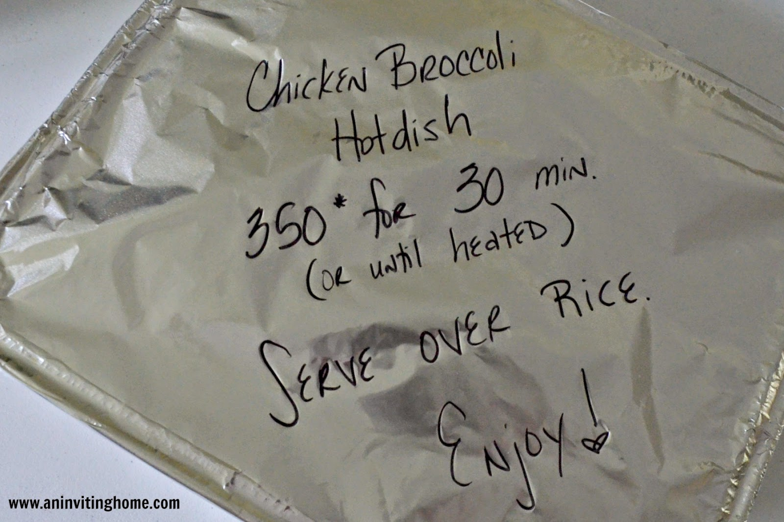 freezer meal to give to friends