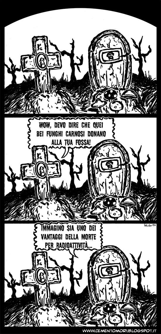 due seppelliti palano di funghi