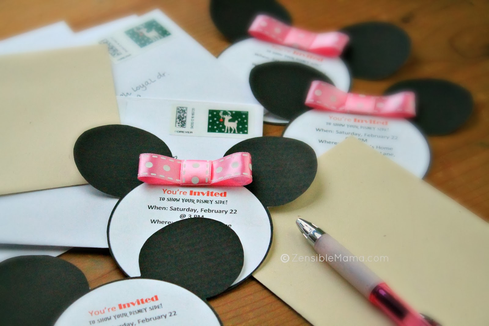 Zensible Mama Disney Inspired Mickey Mouse Ears Printable Template
