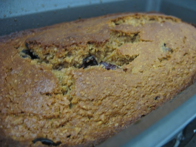 Finished cranberry orange quickbread
