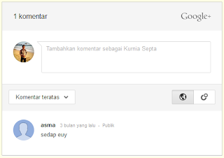 Cara Mengaktifkan Google+ Kotak Komentar di Blog