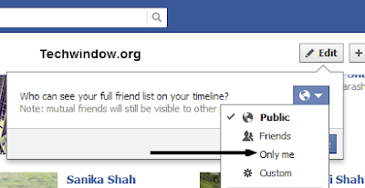 How to hide friend list in Facebook timeline