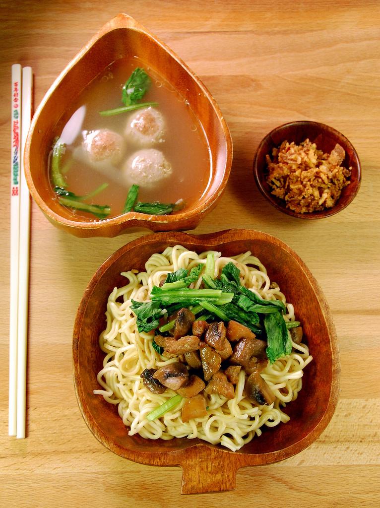 Indonesian food - Mie ayam jamur
