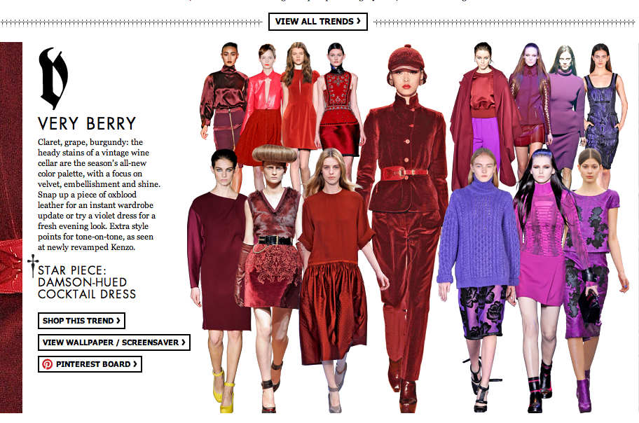 OXBLOOD FALL 2012 TRENDS
