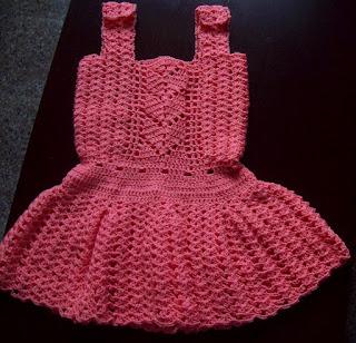 Vestido de hilo en crochet