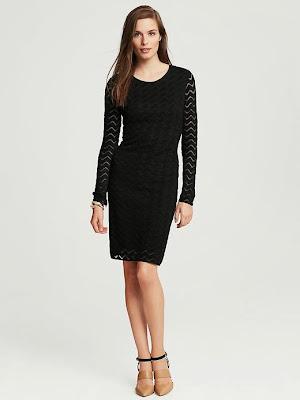 dar kesim kollu siyah elbise, dantelli elbise