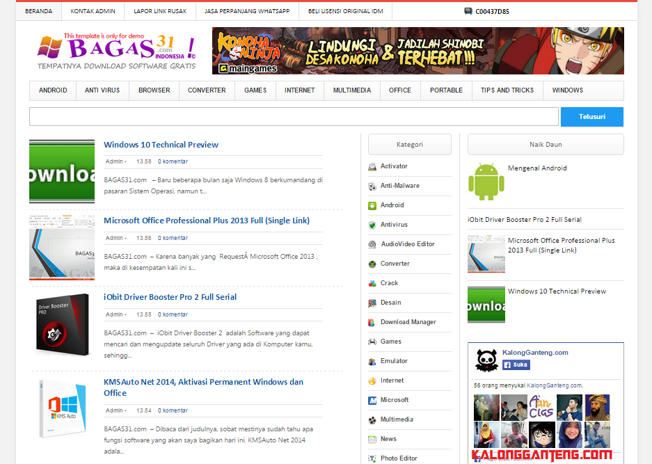 Screenshot Template Mirip Bagas31