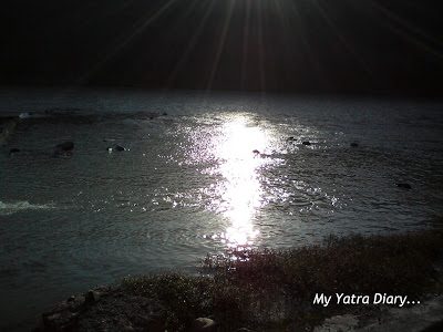 River Ganga as seen from the Dayananda Ashram in Rishikesh