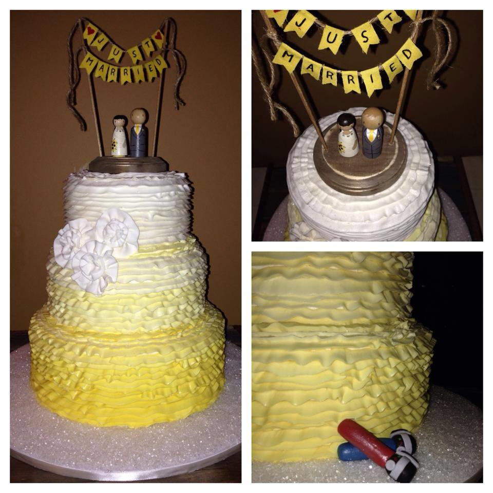 yellow ombre wedding cake