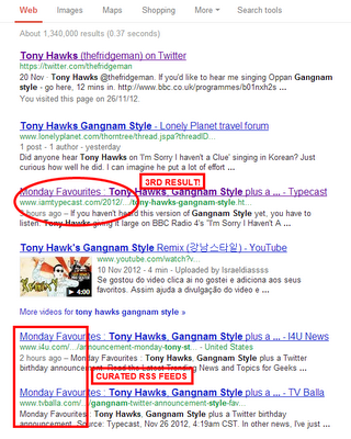 Tony Hawks Gangnam style google search results