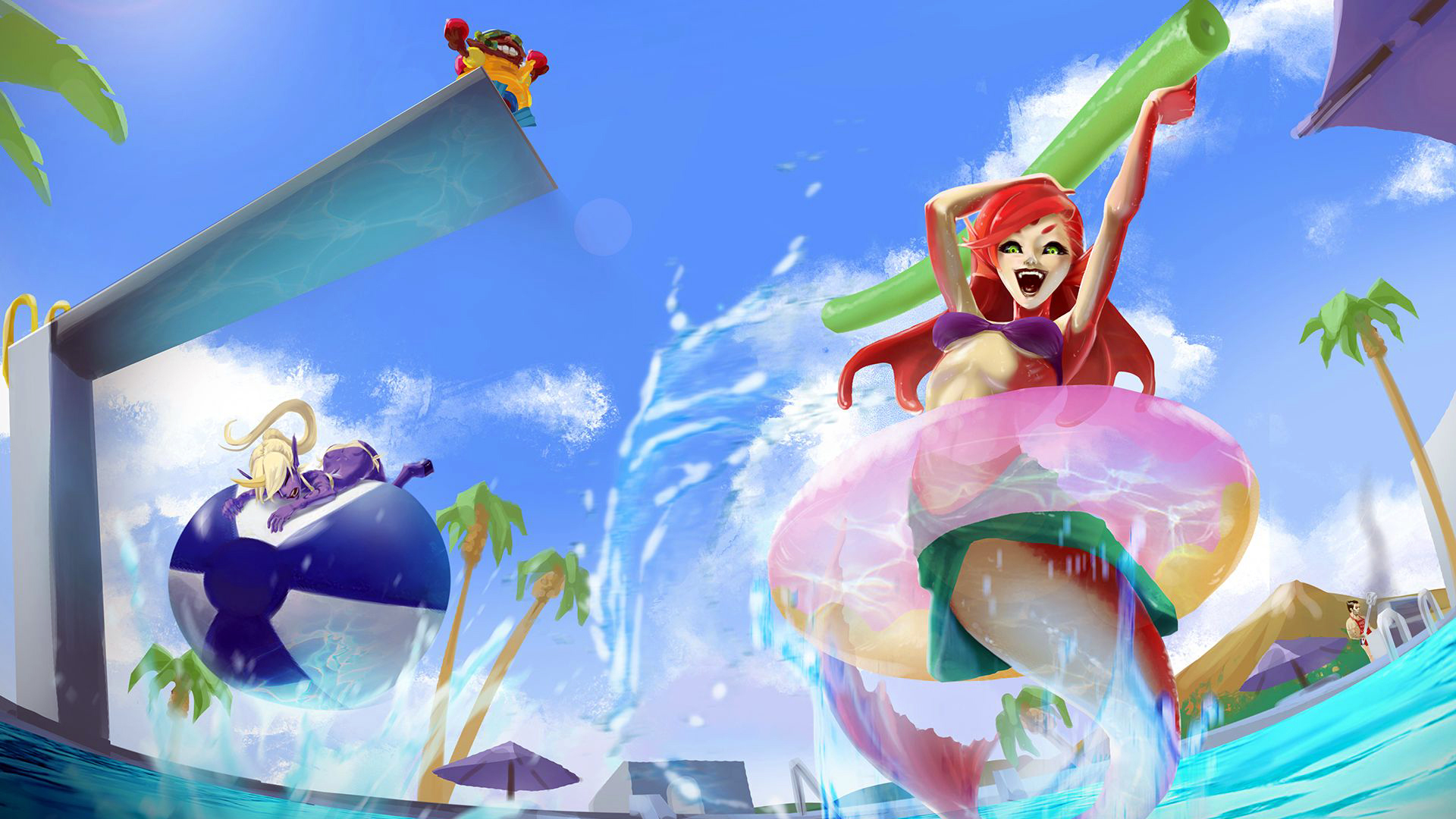 Game wallpaper league of legends yasuo wallpapers iphone with high - Pool Party Nami Wallpaper Hd