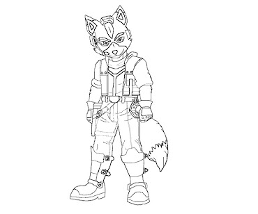#17 Fox McCloud Coloring Page