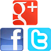 Google Plus, Twitter, Facebook Favicon