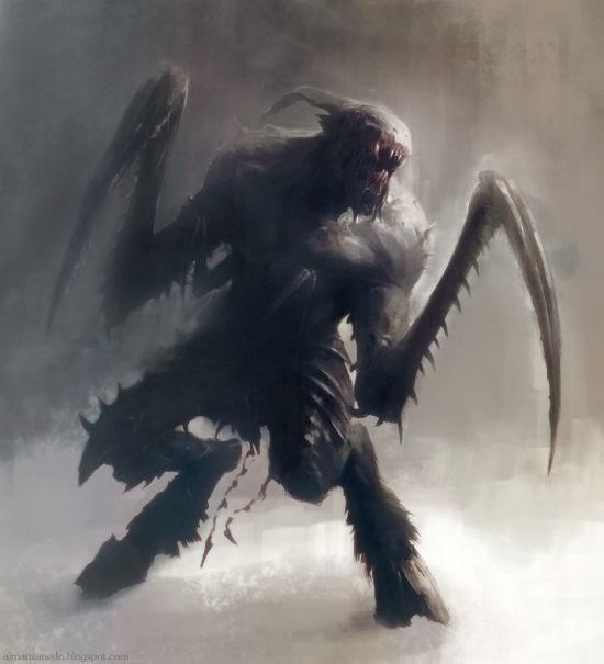 Antonio José Manzanedo ilustrações fantasia sombria terror demônios deuses lovecraft cthulhu