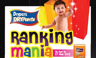 Peraduan Drypers DryPantz 'Ranking Mania'