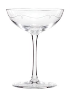 Spicer bank by allison egan champagne coupes a very quick history - Waterford champagne coupe ...
