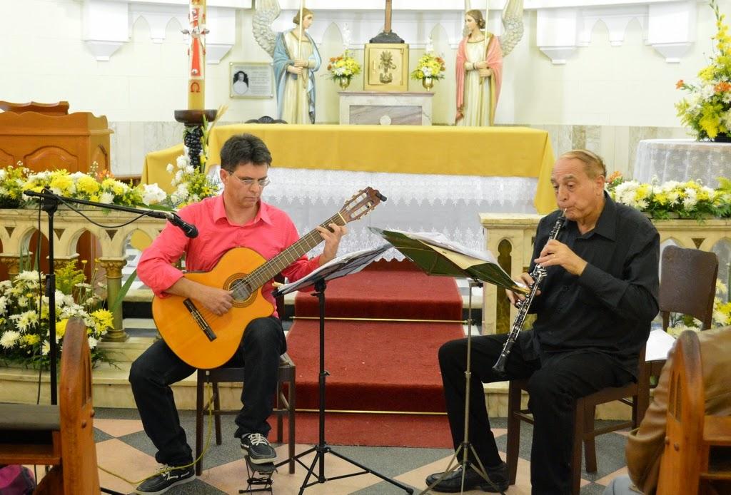 Os músicos Geremias Cruz e Harold Emert
