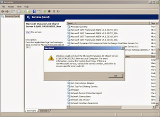 Dynamics AX 2012 R2 - Server terminated unexpectedly with 90 exitcode