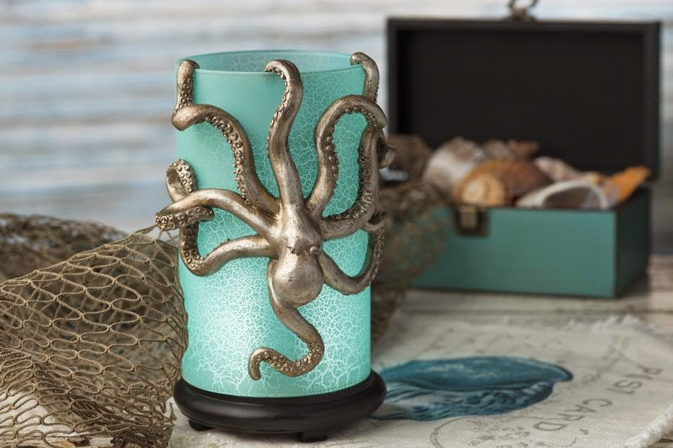 Beach theme ocean inspired octopus simmering light  image