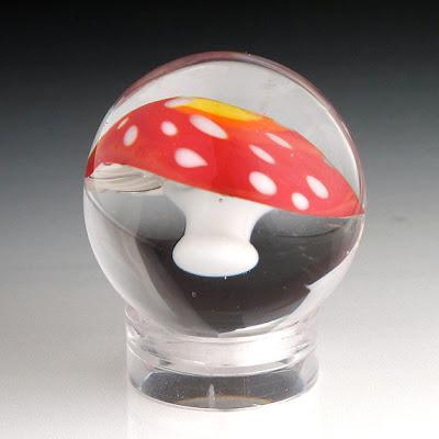 Amanita muscaria mushroom marble