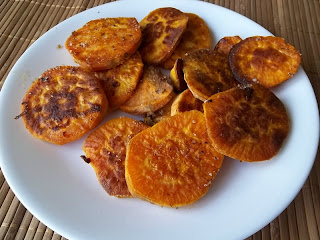 Cajun Roasted Sweet Potato Slices