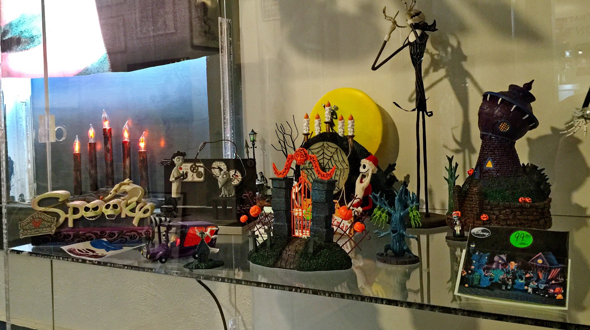 Scenes and characters from A Nightmare Before Christmas were of course a huge part of the… exhibit?