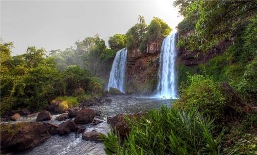 Waterfalls River Landscape