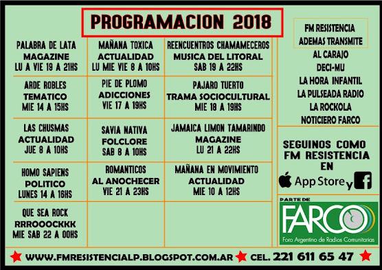 programacion 2018