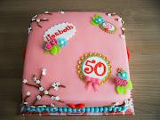 Deze taart was voor een voormalig collega, haar dochter had deze taart als .