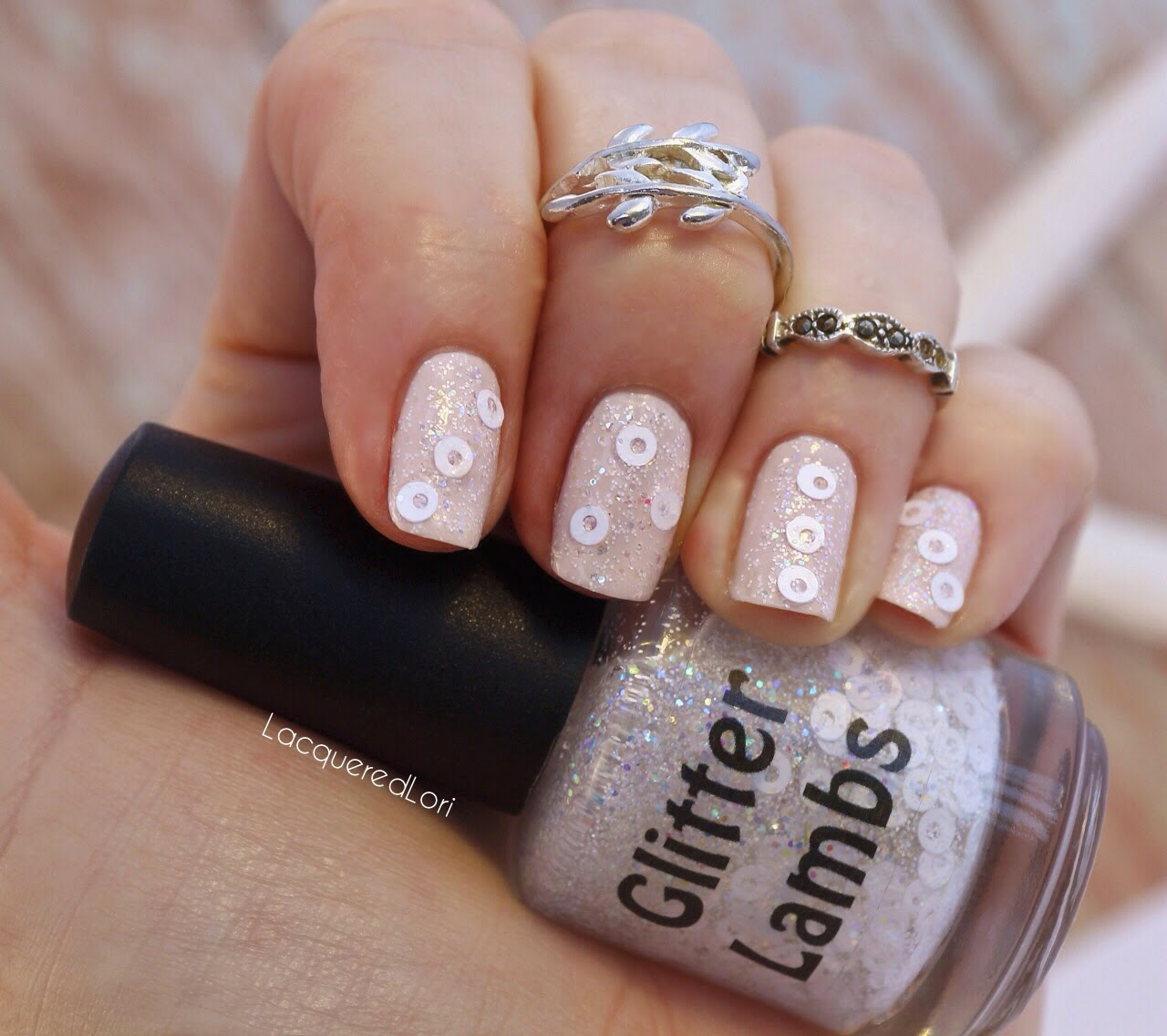 Shimmer And Sparkle Nail Polish: Glitter Lambs- Nail Polish, DIY, Beauty, Makeup And