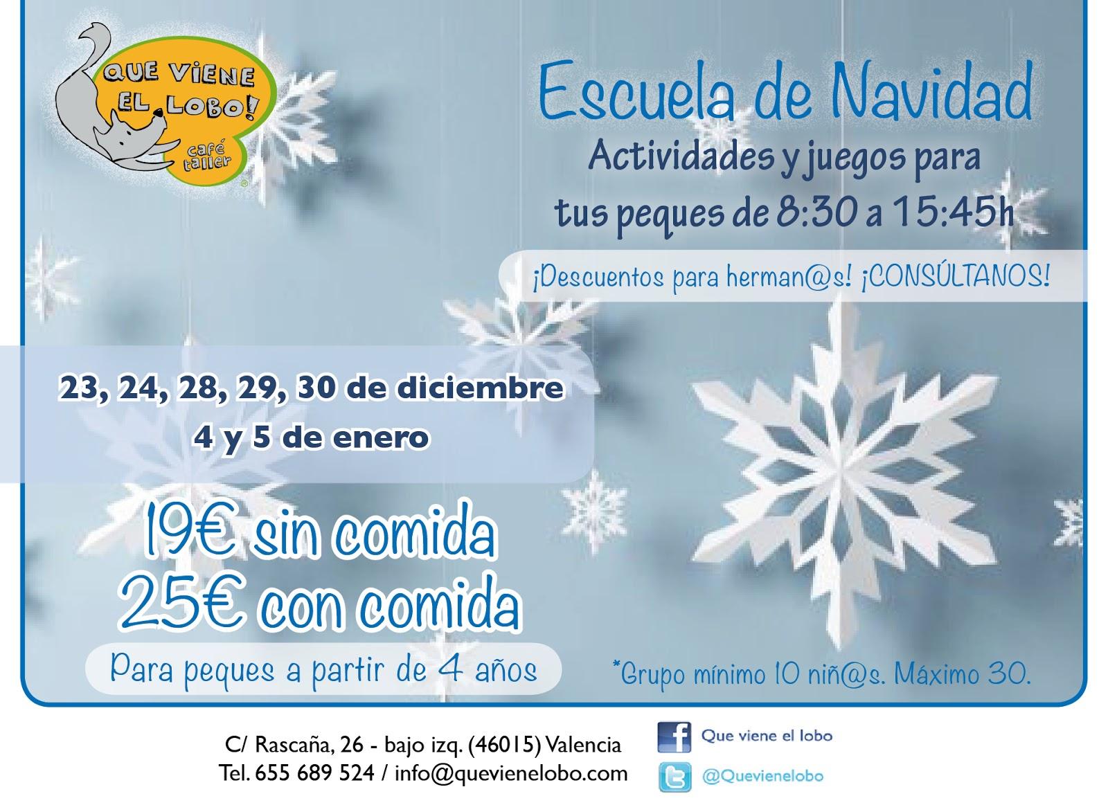 Escuela De Navidad, Nochevieja En El Lobo Y Actividades Especiales En  Diciembre