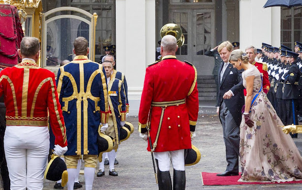 King Willem - Alexander and Queen Maxima of The Netherlands, Prince Constantijn and Princess Laurentien attends the opening of the 2015 Prinsjesdag (Prince's Day)