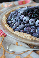 Raw Blueberry Mandala Pie