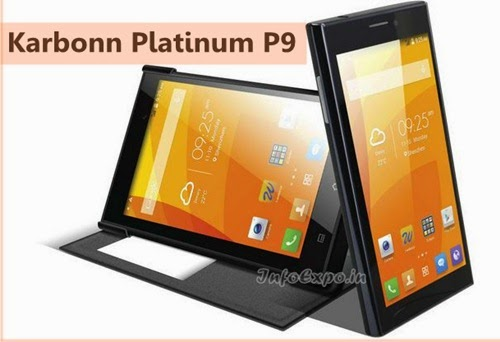 Karbonn Platinum P9 : 6 inches,1.3 GHz Quad Core Android Phone Specs,Price