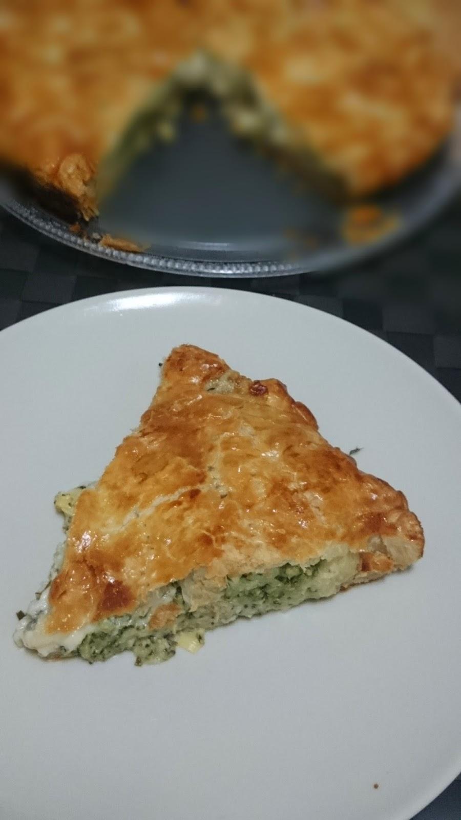 tarta de brócoli y borgonzola de Yotam Ottolenghi, el gourmet vegetariano