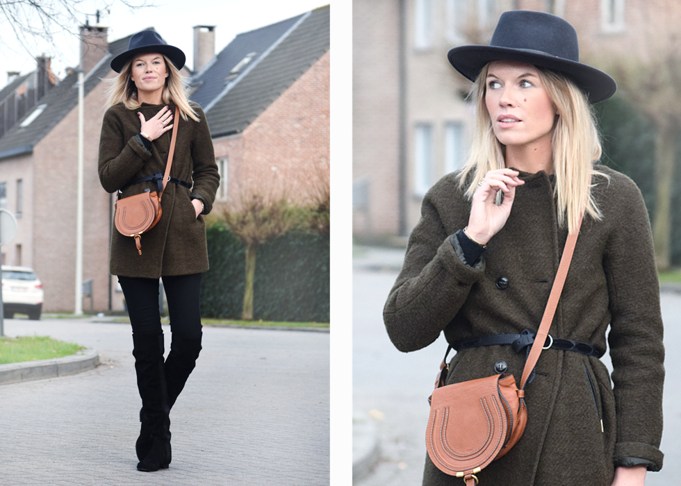 Outfit of the day, iMaGiN, Herman Headwear, Happy D, isabel marant, Chloé, spell on me, Jbrand, Zign , look, winter, hat, over knee boots