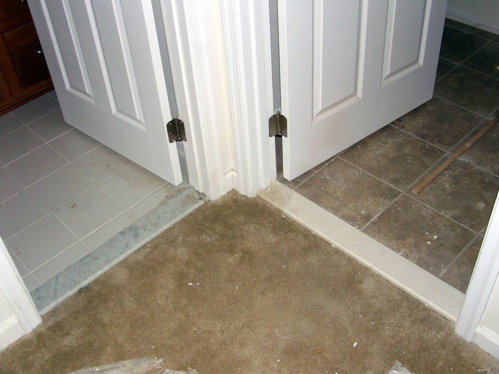 Tiling Bathroom Door Threshold bathroom door saddle