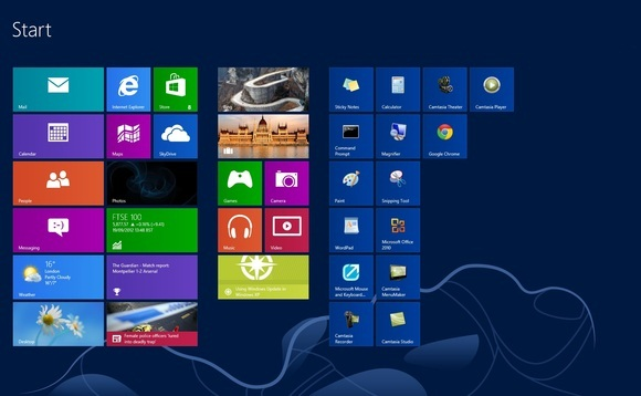 The Home Screen, best used with a touchscreen device or monitor