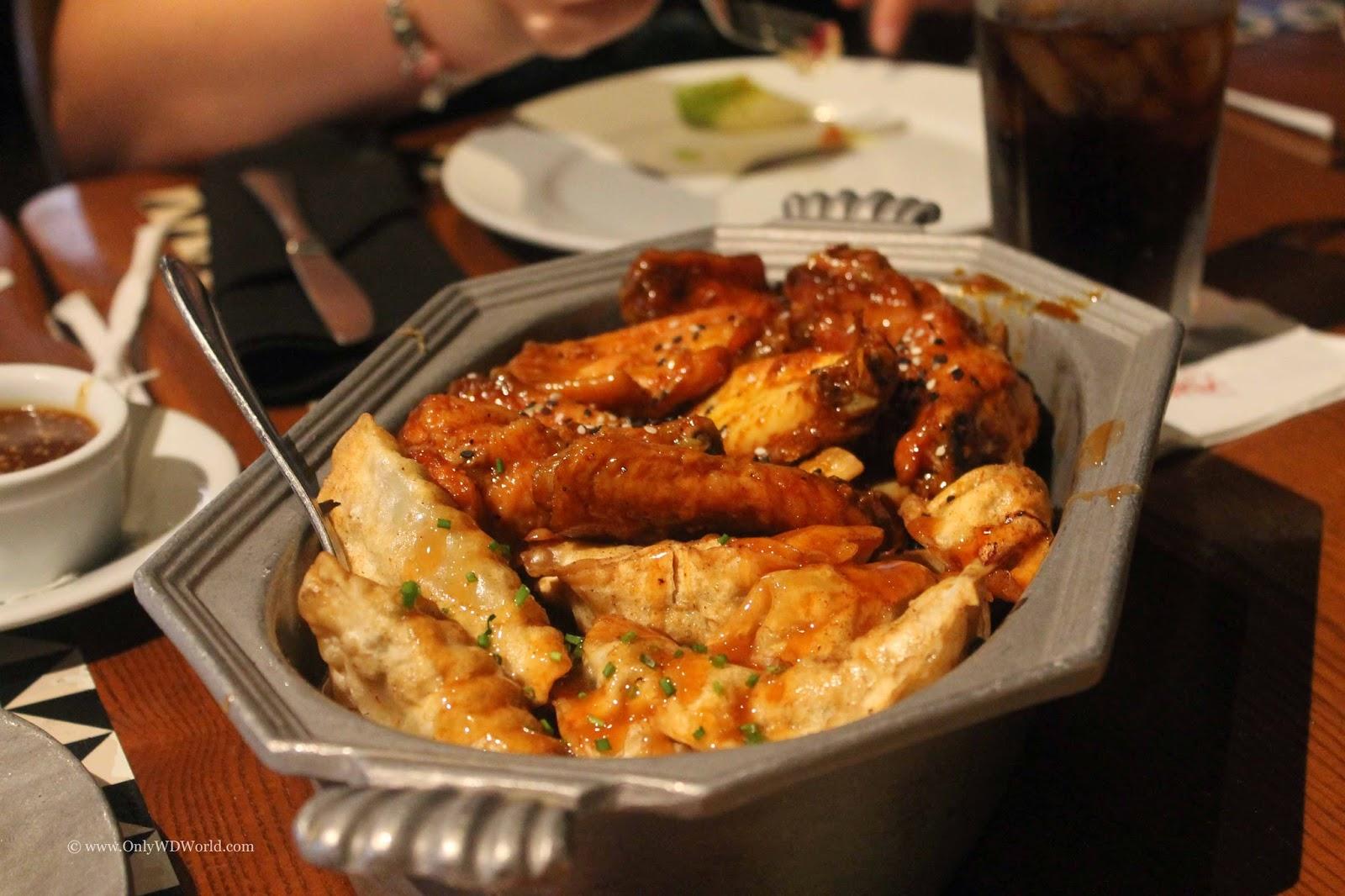 Delightful Disney World Food Of The Day: Honey Coriander Wings U0026 Pork Fried Dumplings  From U0027Ohana