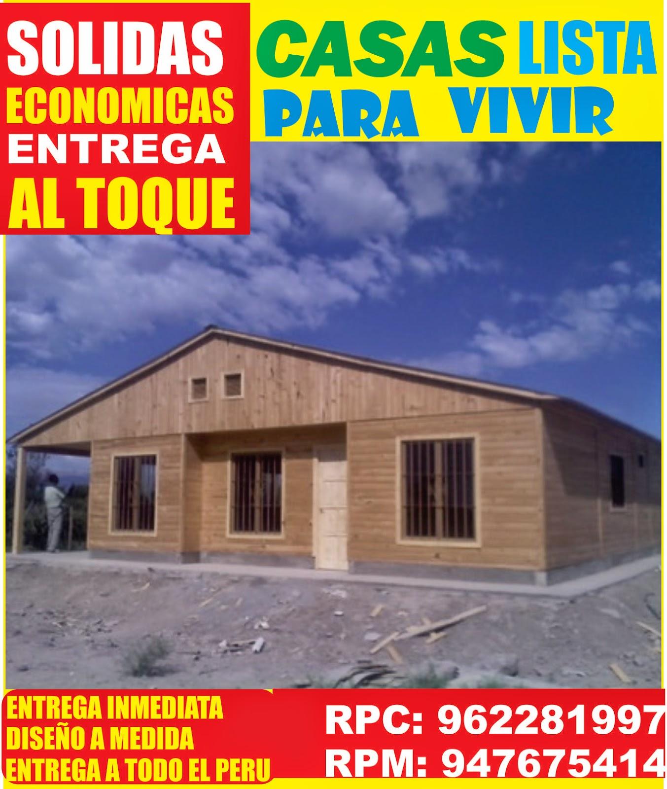 casas pre fabricadas de madera en lima per