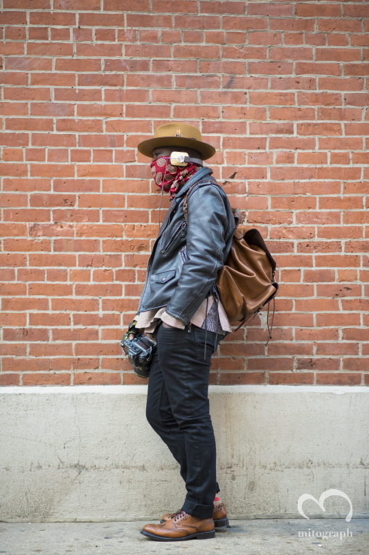 Male Blogger Dapper Lou at New York Fashion Week 2014 Fall Winter NYFW