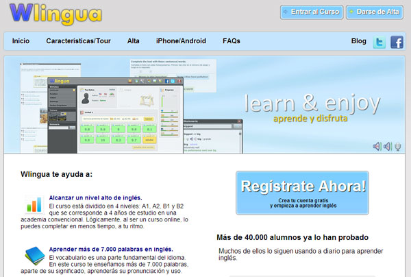 Aprender ingls online: Wlingua.com