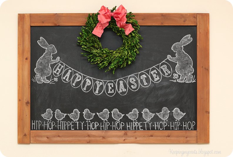 Bunny and chick diy chalkboard