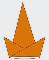 Bước 6: Hoàn thành cách xếp cái mũ sinh nhật bằng giấy origami.