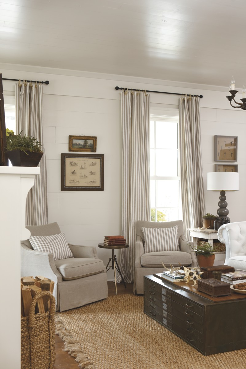 Living Room Curtains : Southern Living Idea House 2012  Emily Ann Interiors