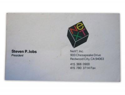 Ini Dia Kartu Nama Steve Jobs Sewaktu di NeXT