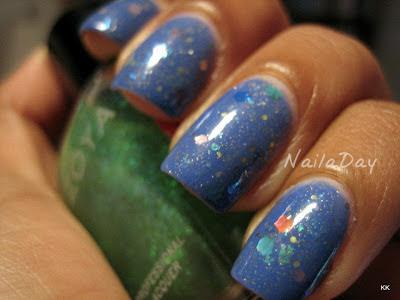 NailaDay: SH Pacific Blue Glitter Franken