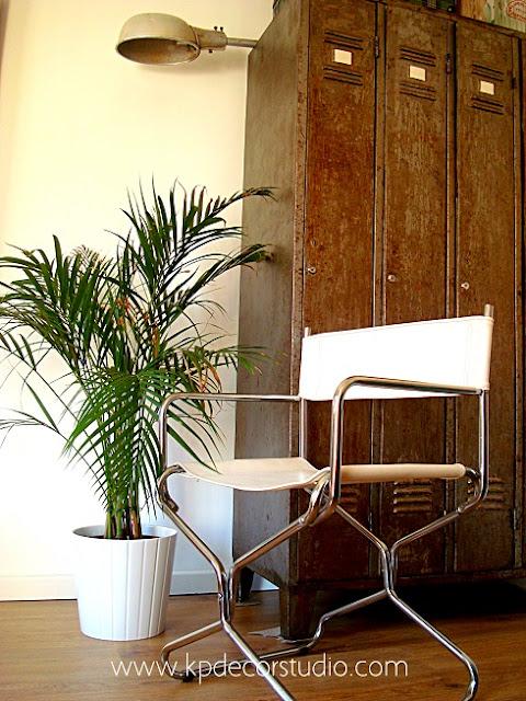 Venta de sillas vintage de diseño estilo retro. Decoración estilo industrial.