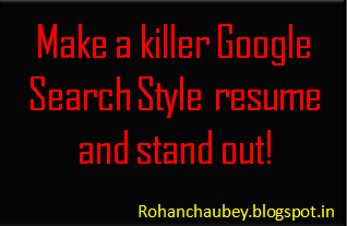 Google search style resume by rohan chaubey