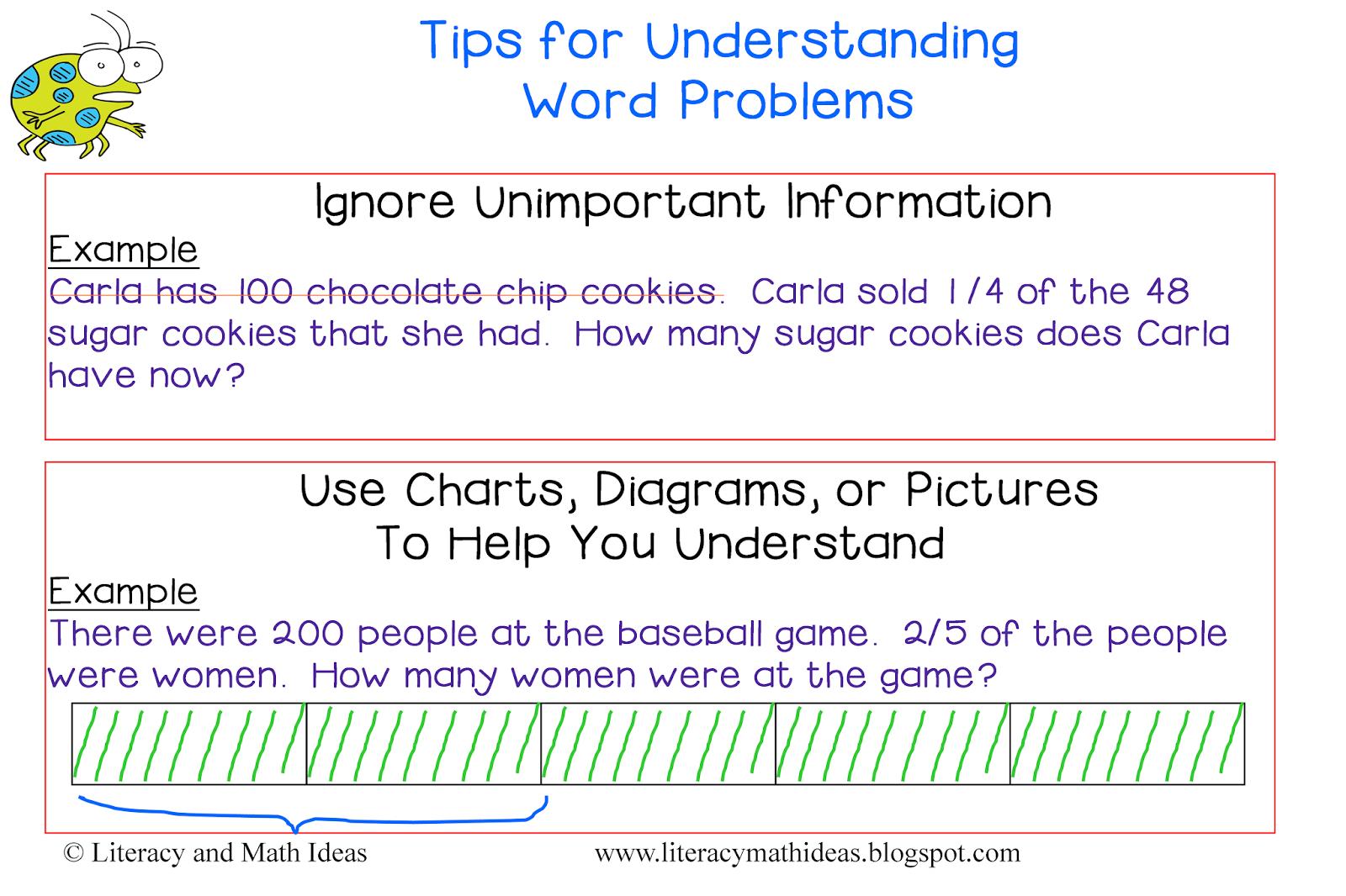Literacy  U0026 Math Ideas  Tips For Understanding Word Problems